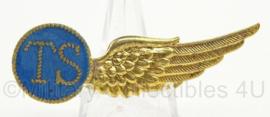 KLu Luchtmacht halve Wing TS Telegrafist Schutter - made in London - afmeting 2 x 6,5 cm - origineel