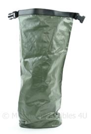 Nederlandse Defensie Waterdichte rugzak liner drysack klein model groen - 57 x 17 x 17 cm - origineel