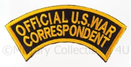WO2 US Official War Correspondent embleem - 10,5 x 3,2 cm