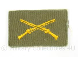 US  Army collar insigne Infantry - afmeting 6 x 4 cm - origineel