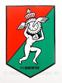 KL Nederlandse leger sticker 111 GEMZWTCIE 111 Gemengd zwaar transportcompagnie - 5,5 x 8 cm - origineel