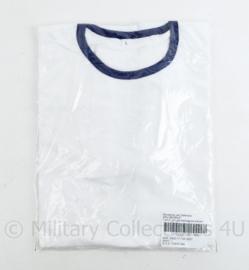 Korps Mariniers en Koninklijke Marine wit T- shirt Sportwitje - nieuw in verpakking - maat L -  origineel