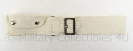 KM Koninklijke Marine ceintuur met vast tasje - wit - 84 cm - origineel