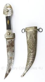 Arabische dolk Jambiya dolk - versierde schede en handgreep -  22,5 cm - origineel