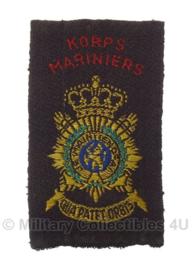 Korps Mariniers embleem - +/- 10 x 6,5 cm - origineel