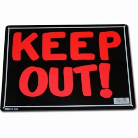 "Metalen plaat ""Keep Out"" -36 x 26 cm -"