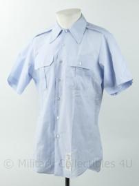 US Army Shirt overhemd lichtblauw met korte mouwen - maat 15,5  = Medium - nieuw - origineel