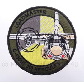 """KLu Koninklijke Luchtmacht embleem """"C130H(-30) Hercules Loadmaster"""" - met klittenband - diameter 10 cm"""