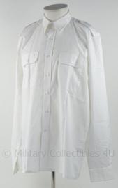 KM Koninklijke Marine overhemd wit - ongebruikt - lange mouw - 60% katoen - maat 41-7 - origineel