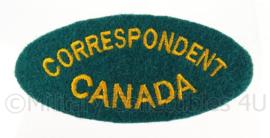 WO2 Correspondent Canada embleem - 8,4 x 3,2 cm