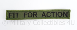 """KL naamlint """"fit for action"""" met klittenband - ongedragen - origineel"""