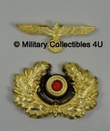 Schirmmütze set Generaal - metaal - adelaar en kokarde goud