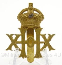 WO2 Britse baret of pet insigne 20th Hussars Regiment - afmeting 3,5 x 5 cm - origineel