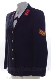 """KM Koninklijke Marine Dames """"adelborsten"""" uniform jas - rang """"sergeant adelborst"""" - maat 38 - origineel"""