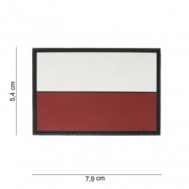 Uniform landsvlag Polen embleem 3D PVC  -  klittenband - 7,9 x 5,4  cm