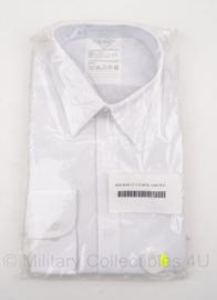 KL Nederlands leger GLT overhemd WIT - nieuw in verpakking - met verdekte knopen - lange mouwen - maat 44-5 - origineel