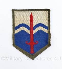 Nederlands leger vorig model DT Nationaal Territoriaal Commando embleem - gevouwen - 5 x 7 cm origineel