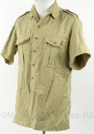 KM Marine Korps Mariniers khaki dik overhemd korte mouw met Korps Mariniers embleem - maat 37 - ongedragen  - origineel