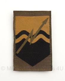 KL Nederlandse leger Commando verbindingen arm embleem 8 x 5,5 cm. - met klittenband - origineel