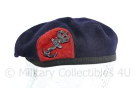 Korps Mariniers baret met insigne - maker Noorloos Specialist Equipment - zwaar gedragen -  maat 55 - origineel