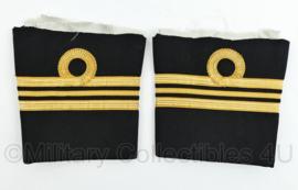 Koninklijke Marine vintage uiteindes van mouwen van het uniform - rang Luitenant der zee der 1e klasse - origineel