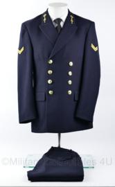 Koninklijke Marine daags blauwe jas met broek 2018 2019 model - rang Korporaal - zeldzame eenheid - Officieren vlieger waarnemer - maat 45 - origineel