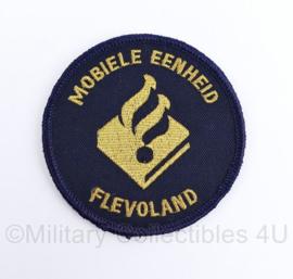 Politie ME Mobiele eenheid Flevoland embleem - met klittenband - diameter  9 cm - origineel