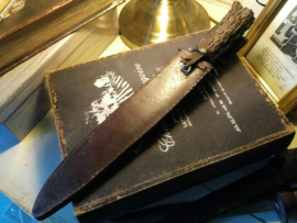 Hunting Knife - handgemaakt - professionele kwaliteit - handvat van hoorn - begin 1900