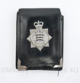 Britse Essex Police brevet met lederen houder- 11 x 9,5 x 1 cm - origineel