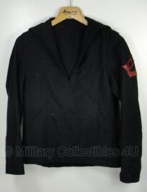 Koninklijke Marine Matrozen hemd met insignes  50'er jaren Baaienhemd -maat 46 -  origineel