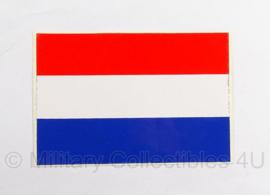 KL of BB voertuig vlag sticker 1977 - 12 x 8 cm. - origineel