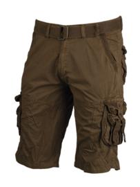 Vintage survival shorts + trouser belt - prewash - COYOTE