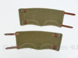 Gamaschen set - feldgrau met bruin leder - replica wo2