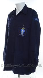 KMAR Koninklijke Marechaussee overhemd MET emblemen - lange mouw - maat 8000/0005 of 9010/1520 - origineel