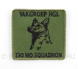 KLu Luchtmacht borst embleem Vakgroep HGL 130 MO Squadron - met klittenband - afmeting 5,5 x 5 cm - origineel