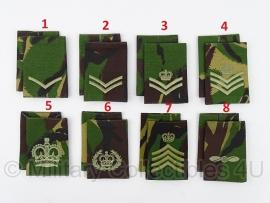 Britse DPM camo schouderstukken - 1 paar naar keuze - ongebruikt - origineel