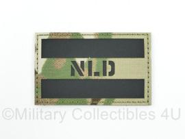 Nederlandse leger infrarood patch - multicam - met klittenband - NLD - 5 x 8 cm