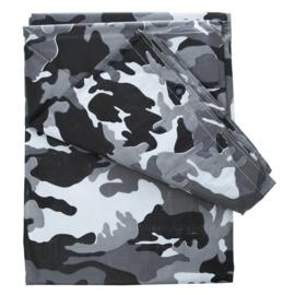 Afdekzeil Urban camo grijs/zwart - GROOT - 6 x 3,5 meter
