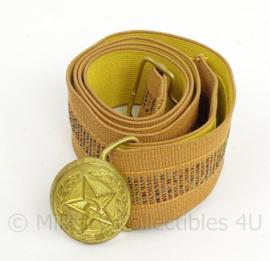 Russische officiers koppel - met goudkleurig slot - 98 cm - origineel