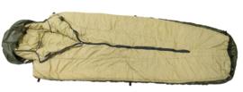 Korps Mariniers dons slaapzak M80 - maat XL = max 210 cm - Bruine versie - - topstaat - ZELDZAAM in deze staat - origineel