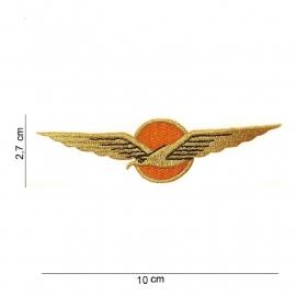 KLU Luchtmacht wing - stof - 10 x 2,7 cm.