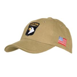 Baseball Cap 101st airborne - Khaki, Zwart of Groen