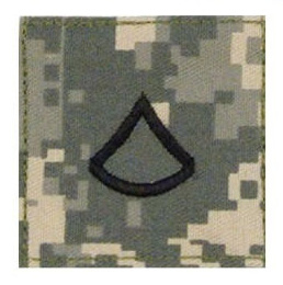 US Army rank patch Private First Class - ACU camo - met klittenband - 5 x 5 cm - origineel