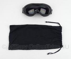 Tactische zwarte bril met hoes - origineel