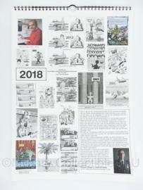 KLU Luchtmacht zeldzame kalender 2018 met tekeningen van Ton van Andel - 42,5 x 30 x 0,5 cm - origineel