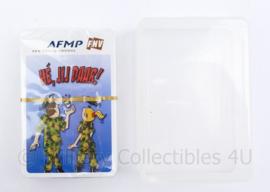 Defensie kaartspel in plastic doosje van de FNV AFMP - 12,5 x 8,5 cm - origineel