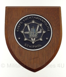 Korps Luchthavenpolitie Schiphol wandbord - 20,5 x 17,5 cm - origineel