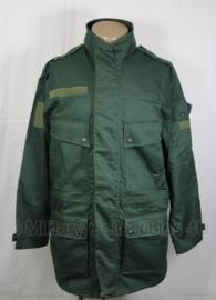 KL Parka modern groen burgerpersoneel met winter en regenvoering - maat 6080/9500 of 8000/9500 - origineel