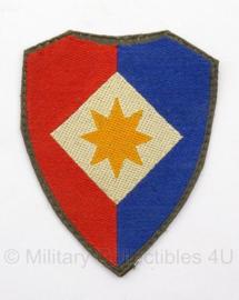 KL DT eenheid embleem voor officieren van de staf van het 1ste legerkorps -  6,5 x 5,4  cm - origineel