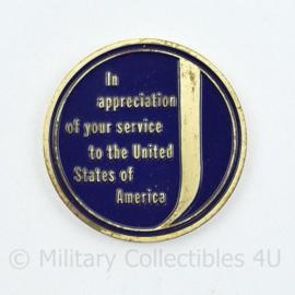 US Coin Jones International University for your service to the United States of America - diameter 4 cm - origineel